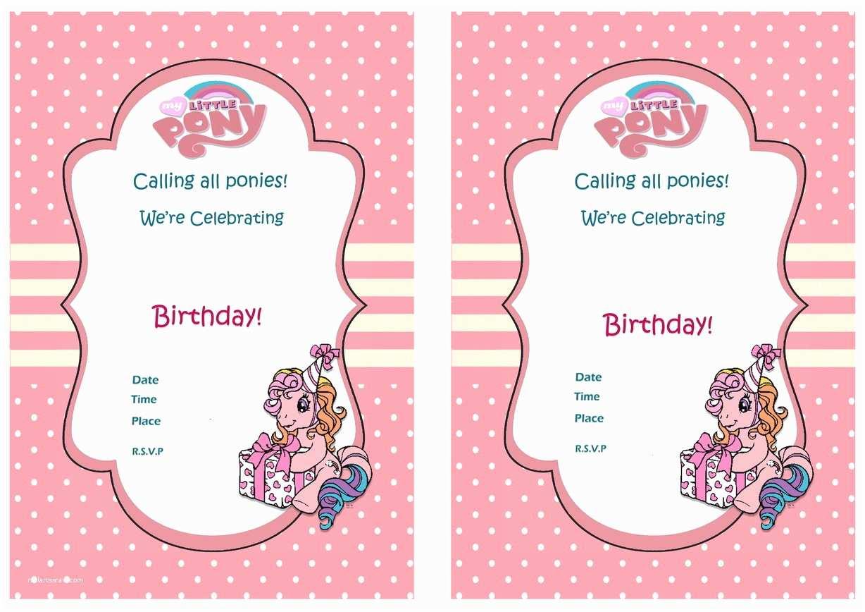 My Little Pony Party Invitations My Little Pony Birthday Invitations – Birthday Printable