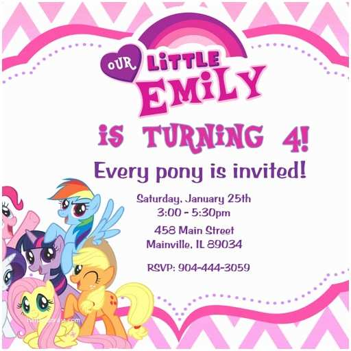 My Little Pony Party Invitations My Little Pony Birthday Party Invitation Digital