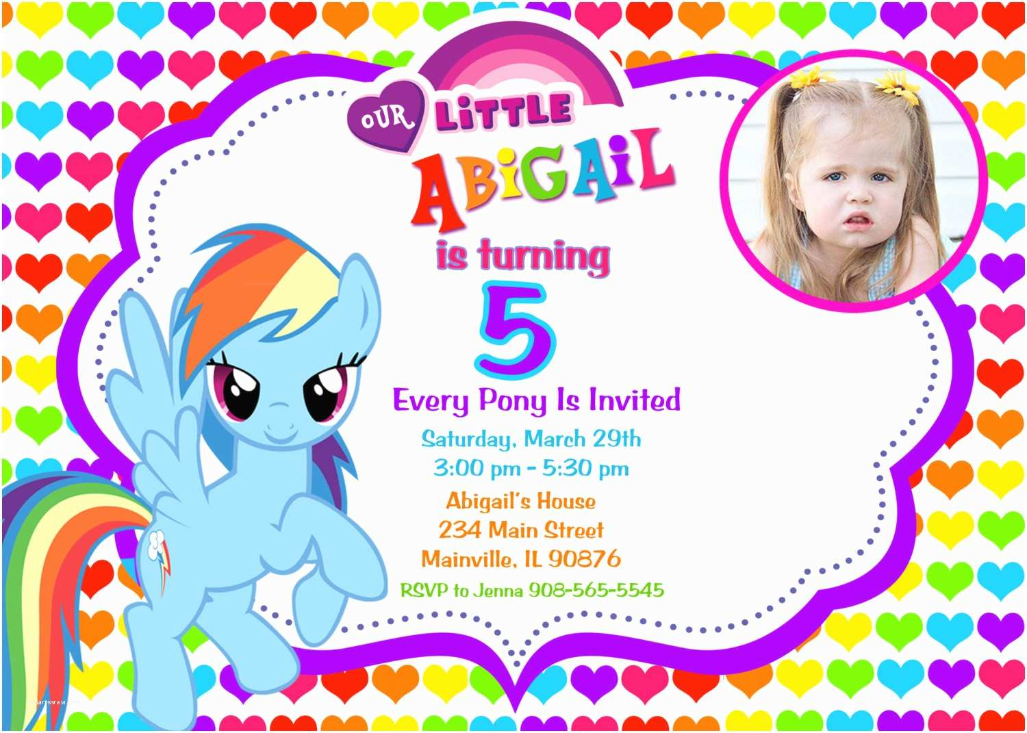 My Little Pony Party Invitations My Little Pony Birthday Party Invitations