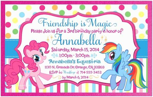 My Little Pony Party Invitations Party Ideas On Pinterest