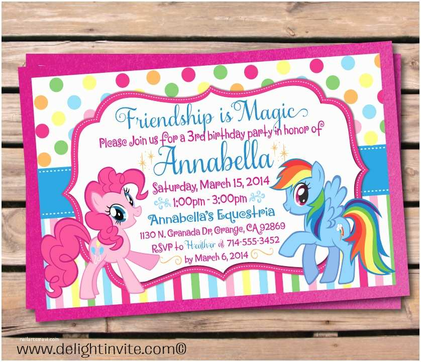My Little Pony Party Invitations Updated Free Printable My Little Pony Birthday