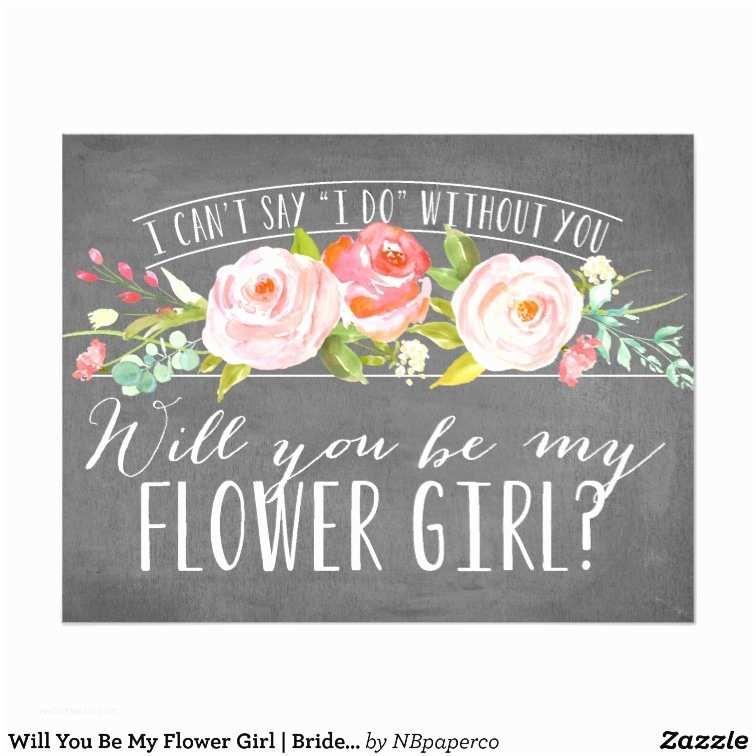 My Wedding Com Invitations Will You Be My Flower Girl Bridesmaid Card