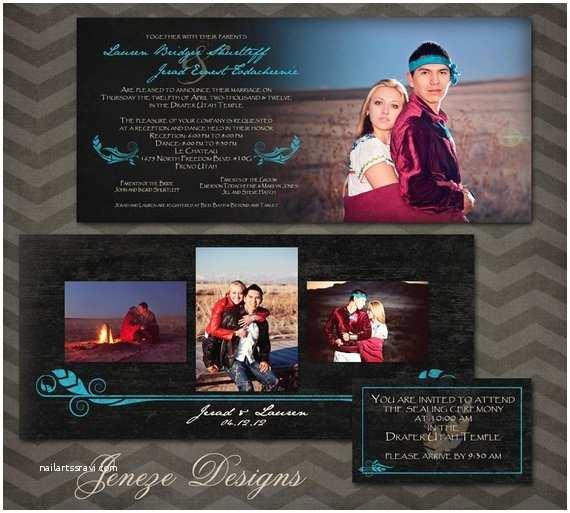 Native American Wedding Invitations Items Similar to Native American Wedding Invitation Set On