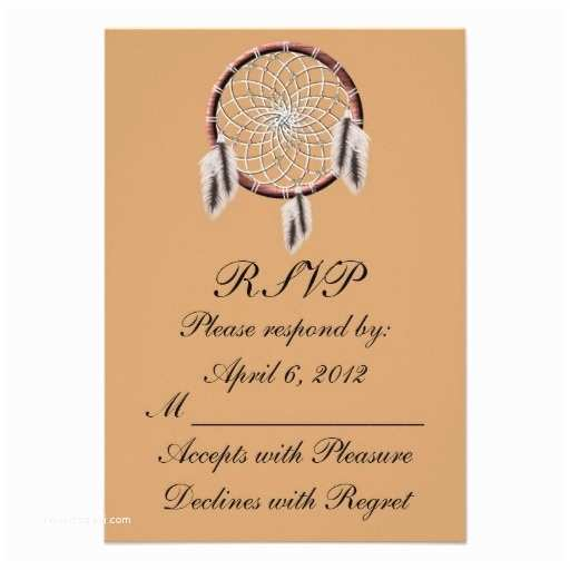 Native American Wedding Invitations Krw Dreamcatcher Native American Wedding Rsvp