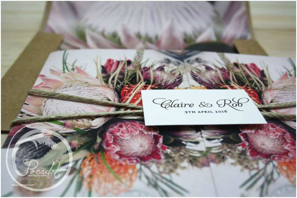 Native Wedding Invitations Australian Native Flowers Wedding Invites Wonderful