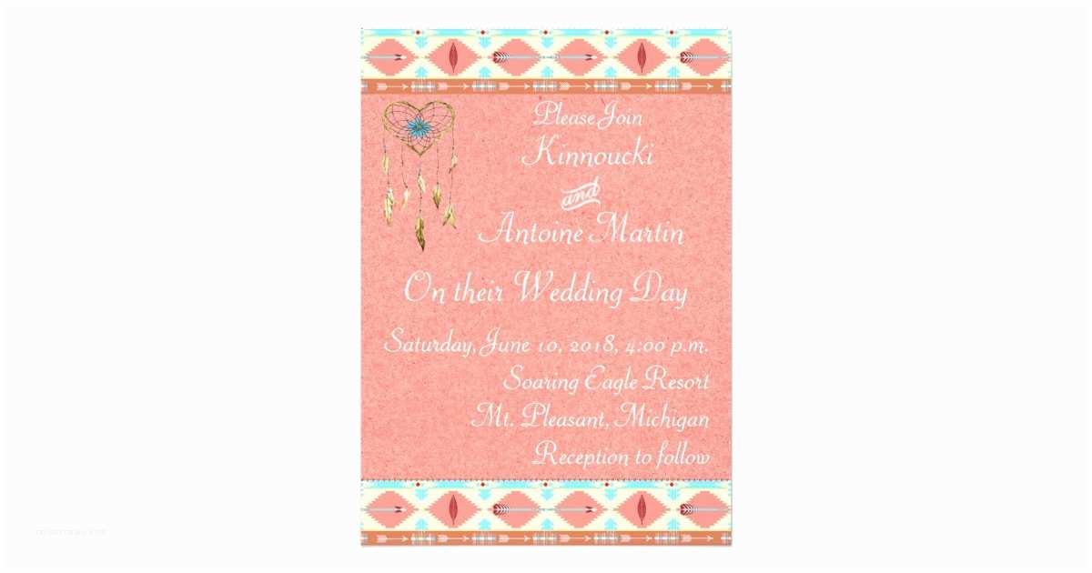 Native Wedding Invitations Native American Wedding Invitation
