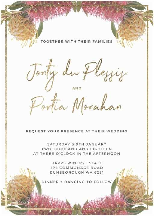Native Wedding Invitations Native Reflection Metallic
