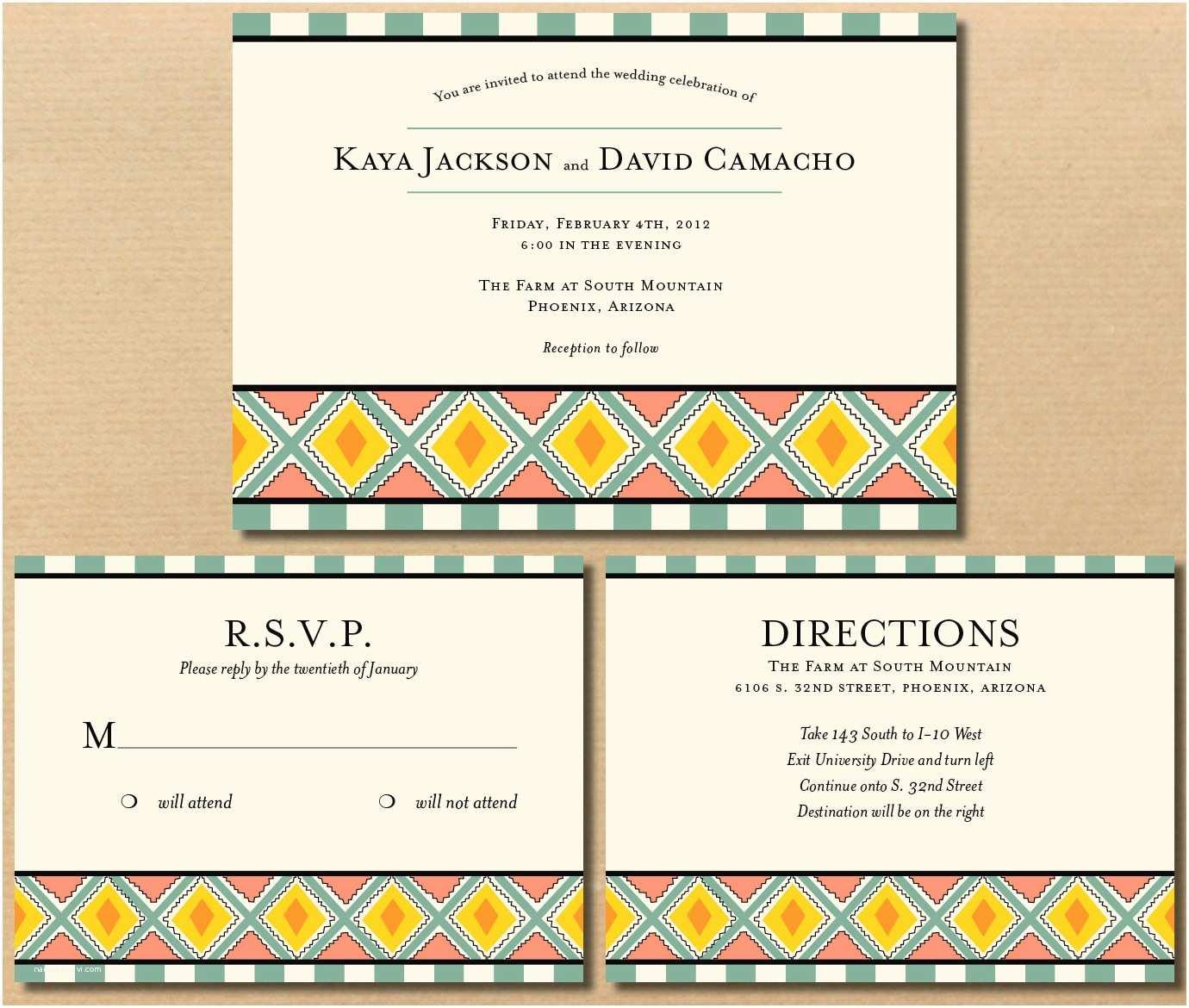 Native Wedding Invitations River & Bridge Native American Influenced Wedding Invitations