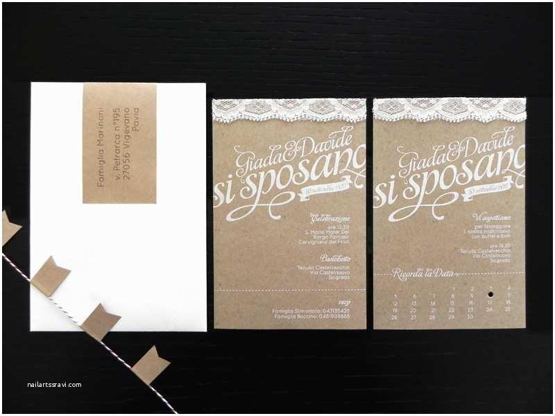 Natural Paper Wedding Invitations Giada Davide S Kraft Paper and Lace Wedding Invitations