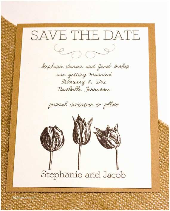 Natural Paper Wedding Invitations Items Similar to Natural Tulip Wedding Invitation Save