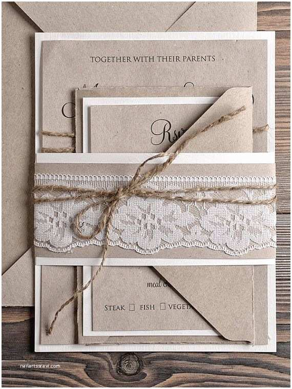 Natural Paper Wedding Invitations Natural Recycling Paper Wedding Invitation Country Style