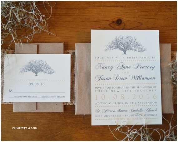 Natural Paper Wedding Invitations Rustic Oak Tree Wedding Invitations Natural Ivory Paper with