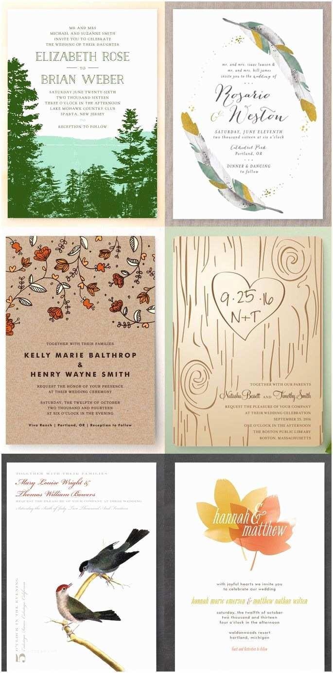 Nature Wedding Invitations 6 Nature Inspired Wedding Invitations for the Fall Bride