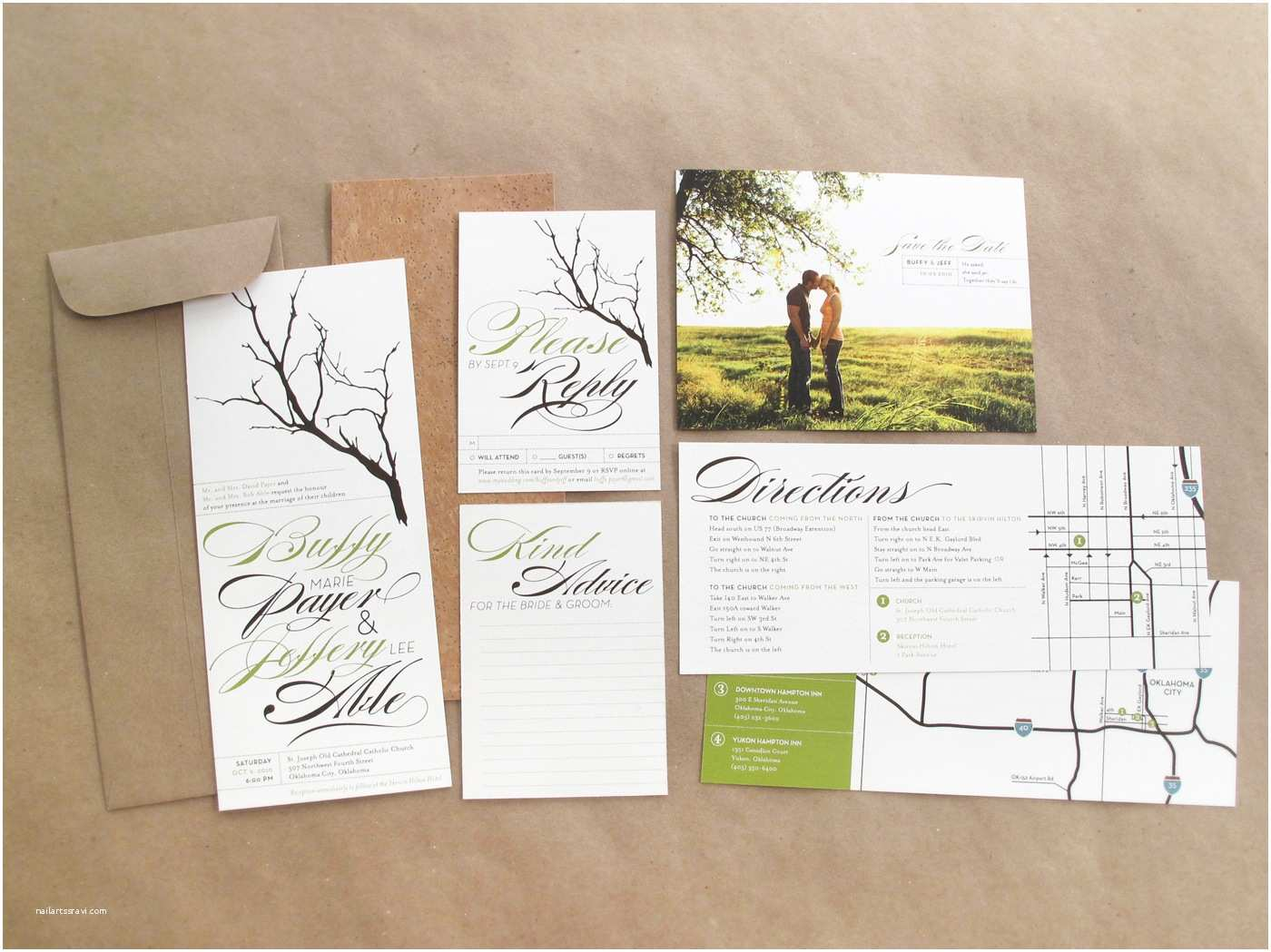 Nature Wedding Invitations Nature themed Wedding Invitation Various Invitation Card