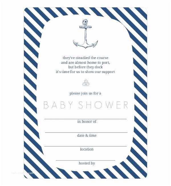 Nautical Baby Shower Invitation 43 Baby Shower Invitation Examples