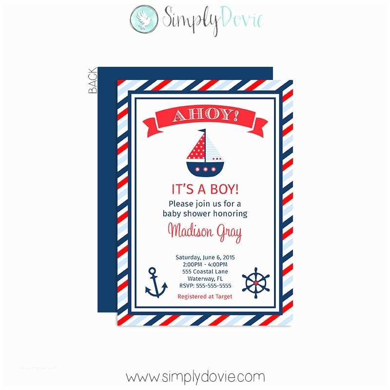 Nautical Baby Shower Invitation Boy S Nautical Baby Shower Invitation