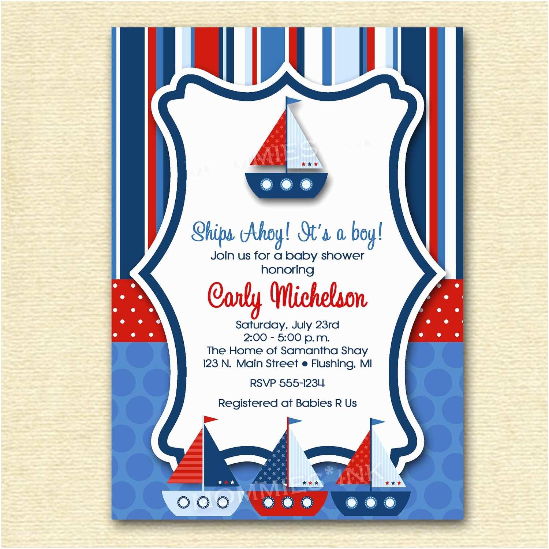 Nautical Baby Shower Invitation Cheap Nautical theme Baby Shower Invitations Templates