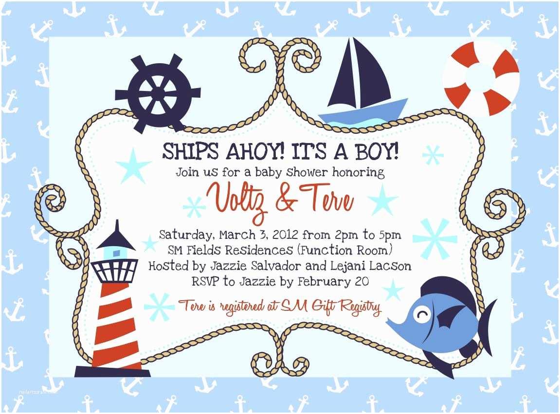 Nautical Baby Shower Invitation Nautical Baby Shower Invitations Baby Shower Decoration