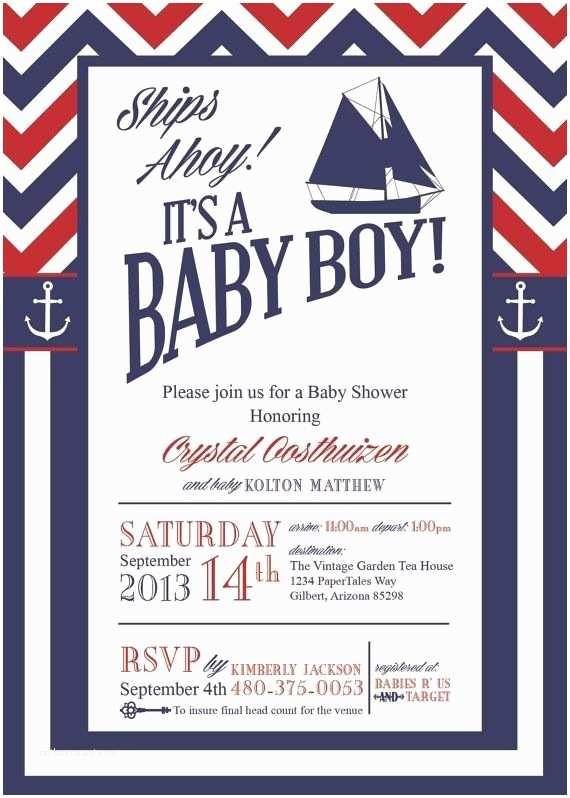 Nautical Baby Shower Invitation Nautical Baby Shower Invitations too Cute