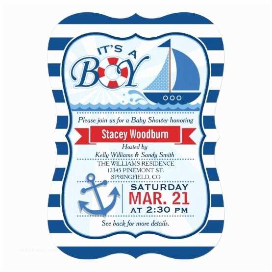Nautical Baby Shower Invitation Nautical theme Baby Shower Invitations – Gangcraft