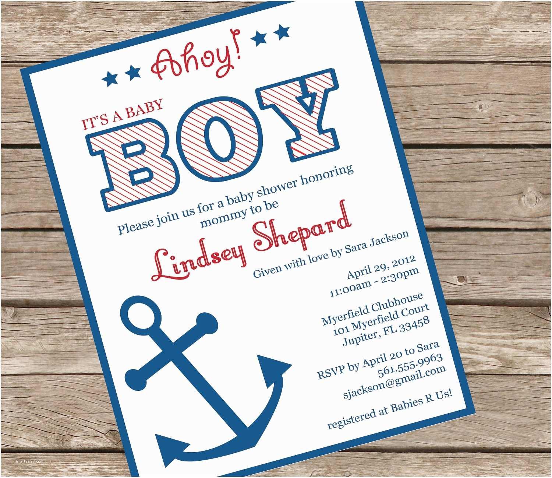 Nautical Baby Shower Invitation Nautical theme Baby Shower Invitations Margusriga Baby