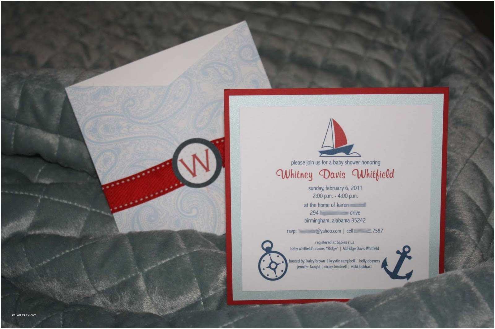 nautical baby boy shower invitations