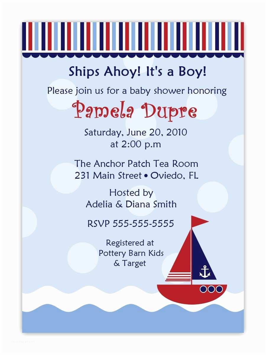 Nautical Baby Shower Invitations Cheap Nautical theme Baby Shower Invitations Templates