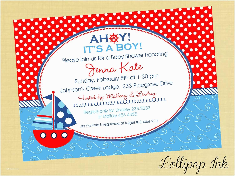 Nautical Baby Shower Invitations Nautical Baby Shower Invitations Girl – Invitations Card