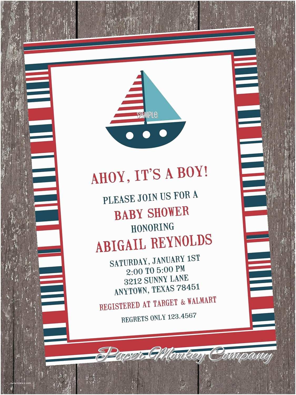 Nautical Baby Shower Invitations Nautical Sailboat Baby Shower Invitations