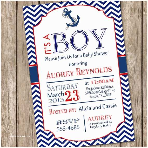Nautical Baby Shower Invitations Sailor Baby Shower Invitations Template