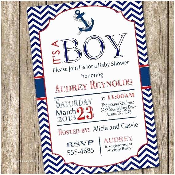 Nautical Baby Shower Invitations Templates Nautical Baby Shower Invitations Ahoy Its A Boy Sailboat