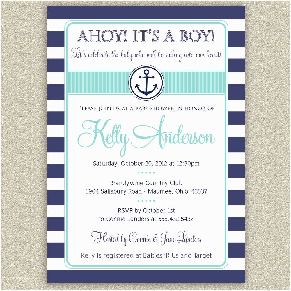 Nautical Baby Shower Invitations Templates Nautical Baby Shower Invitations Cheap – Invitations Card