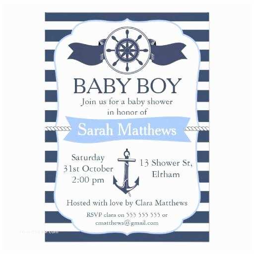 Nautical Baby Shower Invitations Templates Nautical Baby Shower Invites