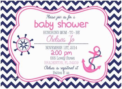 Nautical Baby Shower Invitations Templates Nautical Girl Baby Shower Invitations Oxyline Bc79ae4fbe37
