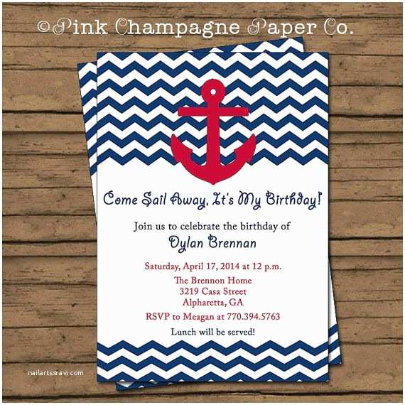 Nautical Birthday Invitations 14 Best Images About Sawyer On Pinterest