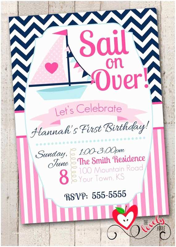 Nautical Birthday Invitations Best 25 Nautical Birthday Invitations Ideas On Pinterest