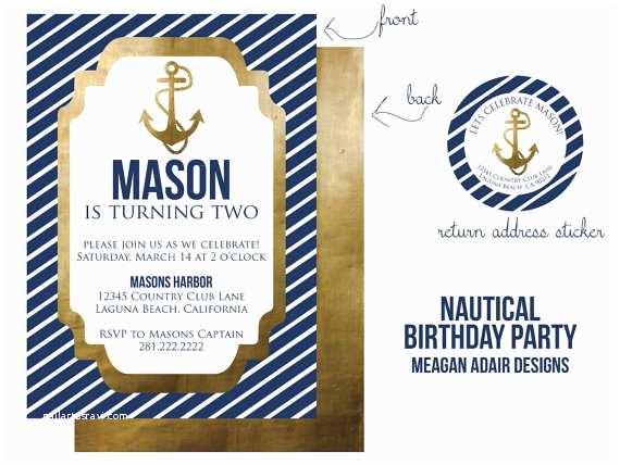Nautical Birthday Invitations Unavailable Listing On Etsy
