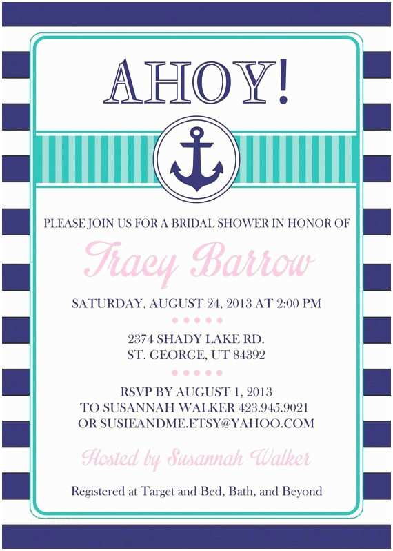 Nautical Bridal Shower Invitations Bridal Shower Invitations Bridal Shower Invitations Nautical