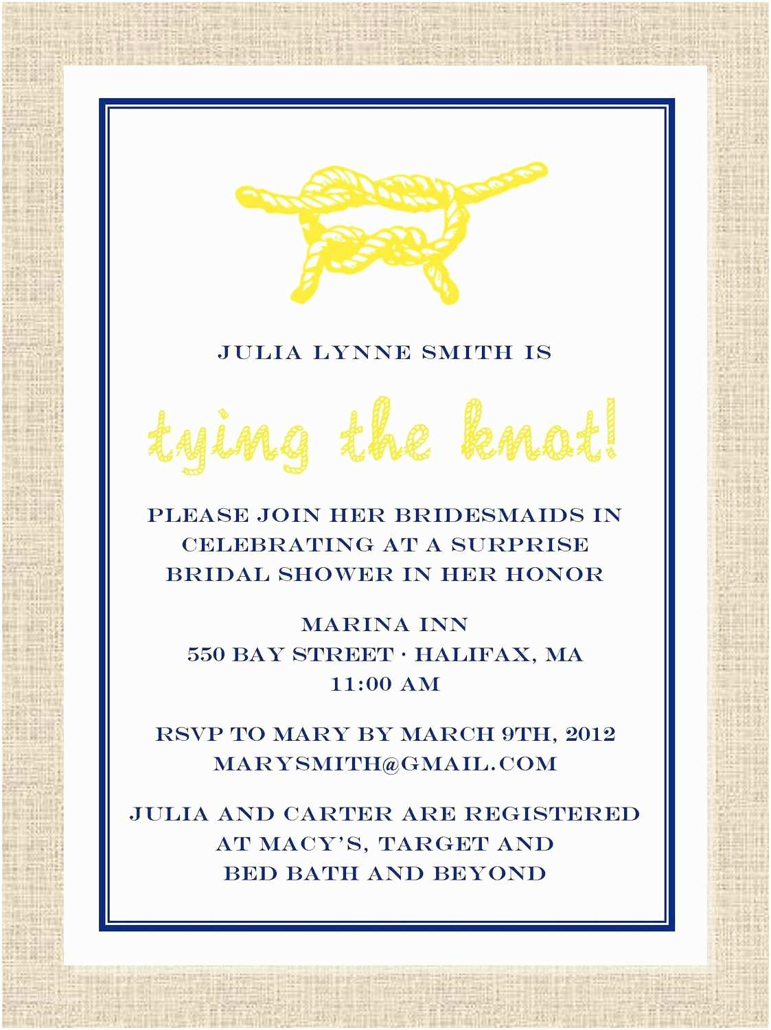 Nautical Bridal Shower Invitations Nautical Bridal Shower On Pinterest