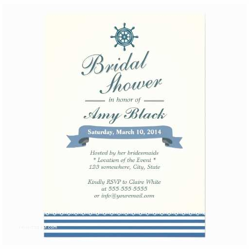 Nautical Bridal Shower Invitations Personalized Nautical Wedding Invitations