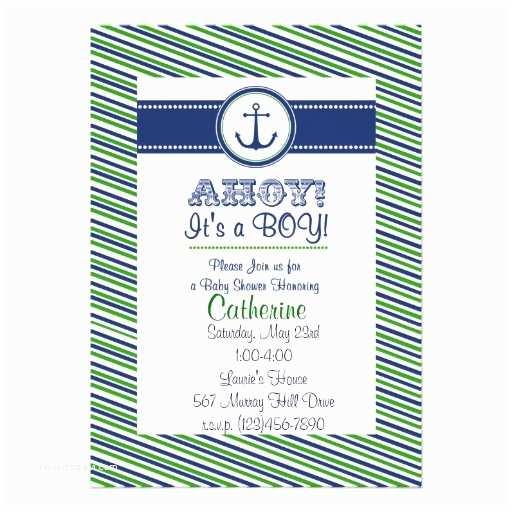 """Nautical theme Baby Shower Invitations Baby Boy Shower Invitation Nautical theme 5"""" X 7"""