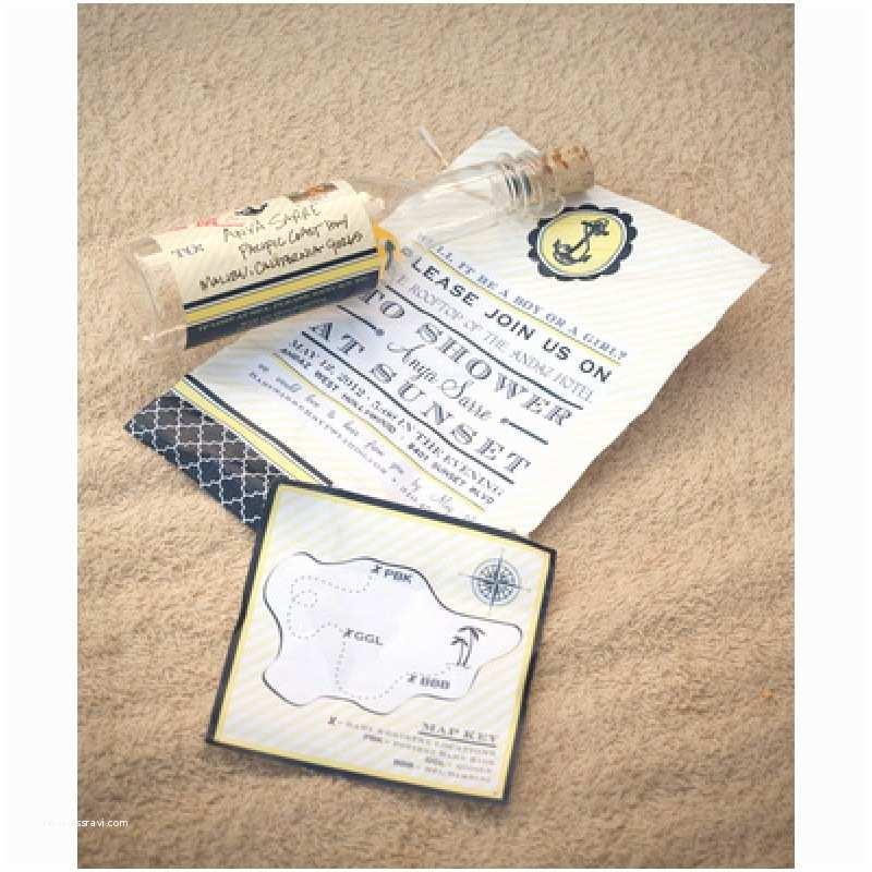 Nautical theme Baby Shower Invitations Nautical Baby Shower or Party Invitation Navy and Yellow