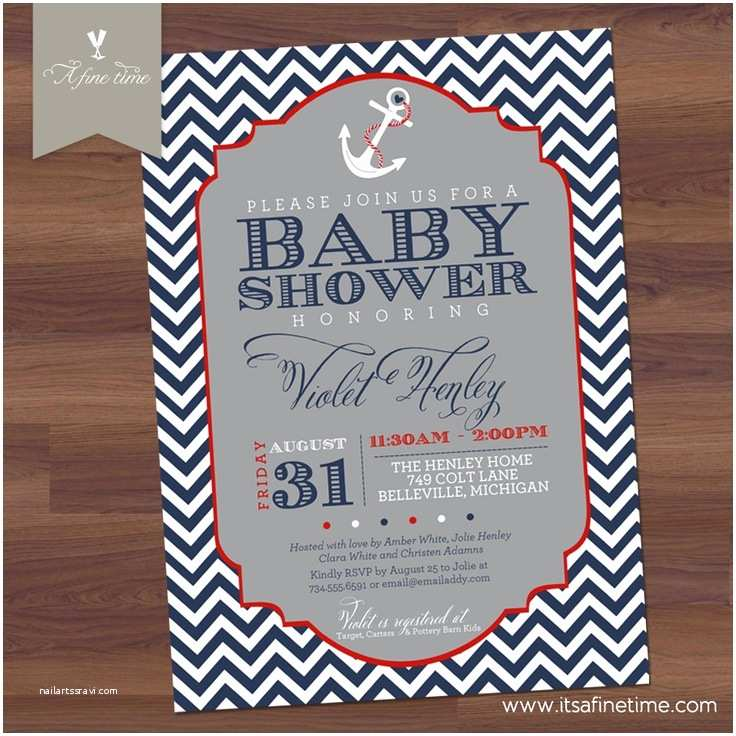 Nautical themed Baby Shower Invitations 16 Best Nautical Invitations Images On Pinterest