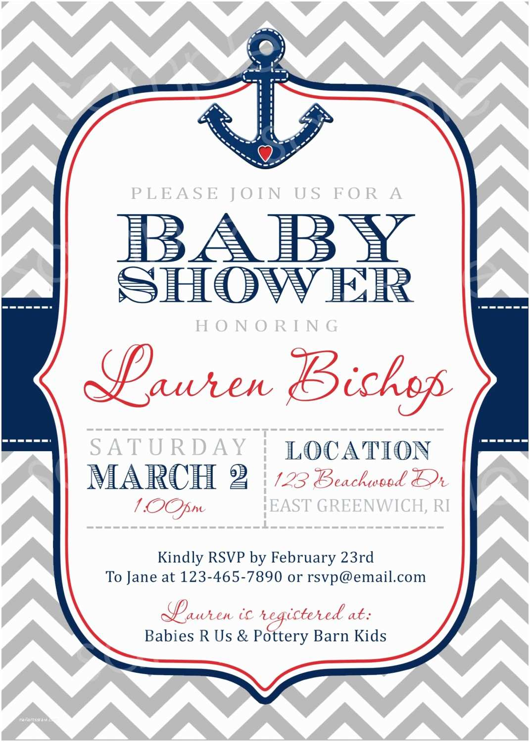 Nautical themed Baby Shower Invitations Baby Shower Invitations Cheap Nautical theme Baby Shower