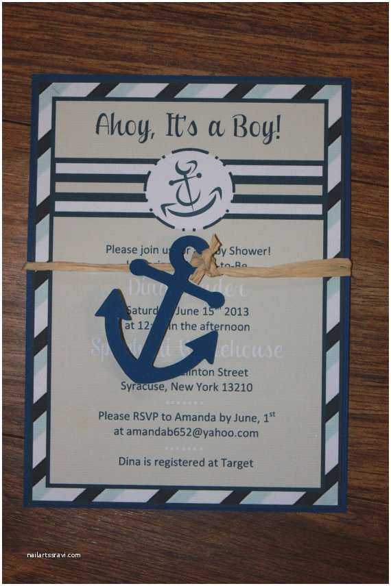 Nautical themed Baby Shower Invitations Etsy Your Place to and Sell All Things Handmade