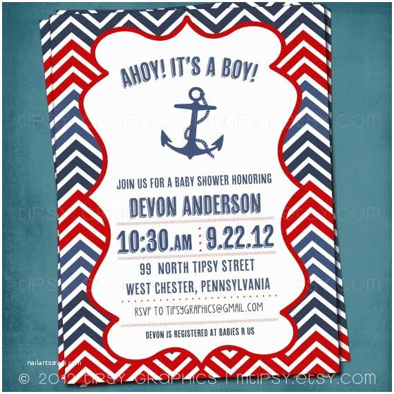 Nautical themed Baby Shower Invitations Free Nautical Baby Shower Invitation Templates