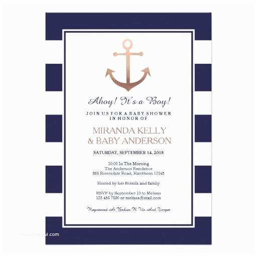 Nautical themed Baby Shower Invitations Nautical Baby Shower Invites