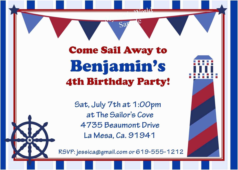 Nautical themed Baby Shower Invitations Nautical Birthday Invitations Templates