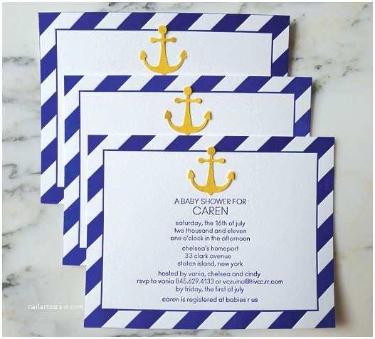 Nautical themed Baby Shower Invitations Nautical themed Baby Shower Invitations