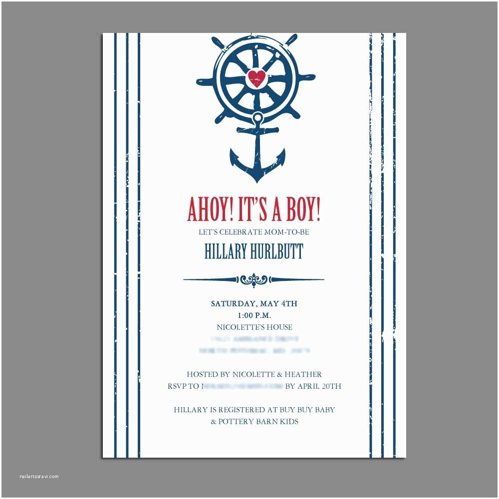 Nautical themed Baby Shower Invitations Unavailable Listing On Etsy